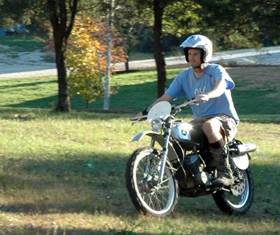 Ben riding Hodaka