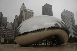 The bean when it was cloudy outside.